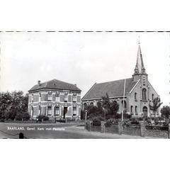BAARLAND, Geref. Kerk met Pastorie
