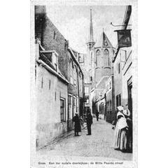 Goes. Een der oudste doorkijkjes - de Witte Paarde straat
