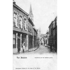 Ter Neuzen Nordstraat van het stadhuis gezien